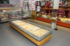 Departamento do queijo fotografia de stock