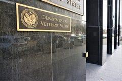 Departamento dos casos de veteranos que constroem em Washington imagens de stock royalty free