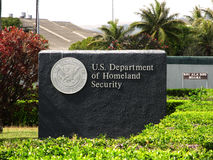 Departamento dos E.U. da segurança de pátria - sinal Imagens de Stock Royalty Free