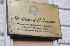 Departamento italiano del Ministerio del Interior imágenes de archivo libres de regalías