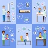 Departamento pediatra Pediatra Consultation ilustração royalty free