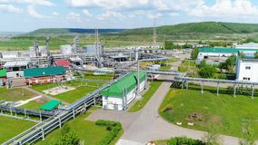Departamentos de proceso de los tanques de aceite en la planta de Tatneft metrajes