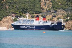 Departing ferry, Skopelos Royalty Free Stock Photography
