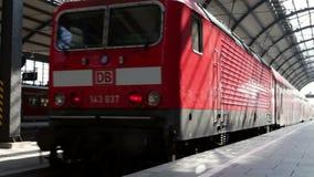 Departing German S-Bahn. S-Bahn is leaving a German train station stock video