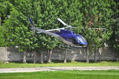 Departing helicopter Royalty Free Stock Photos
