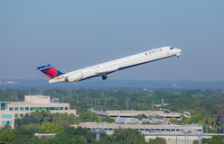 Departing Delta Jet Airliner Royalty Free Stock Image