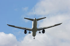 The departing plane Royalty Free Stock Photo