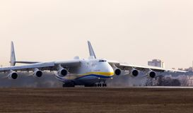 Departing UR-82060 Antonov Airlines Antonov Design Bureau Antonov An-225 Mriya aircraft. Gostomel, Ukraine - April 3, 2018: UR-82060 Antonov Airlines Antonov Stock Photography