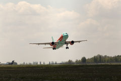 Departing WindRose Airbus A320-212 aircraft Stock Image