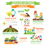 Department of Agricultural Education,Cartoon Characters infograp Royalty Free Stock Images