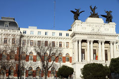 Department of Agriculture building, Madrid city Royalty Free Stock Images
