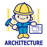 Department of Construction Engineering Mascot. Education and lif Royalty Free Stock Photography