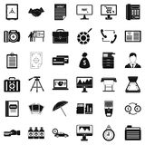 Department equipment icons set, simple style. Department equipment icons set. Simple style of 36 department equipment vector icons for web isolated on white Royalty Free Stock Photography
