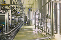 Department filtering. Brewing production - department filtering, the interior of the brewery, nobody Royalty Free Stock Images