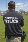 Department of homeland security police providing security during Fleet Week 2014 Stock Photo