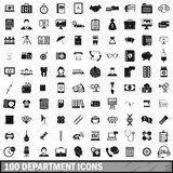 100 department icons set, simple style. 100 department icons set in simple style for any design vector illustration Royalty Free Stock Image