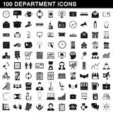 100 department icons set, simple style. 100 department icons set in simple style for any design vector illustration Stock Photography