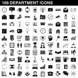 100 department icons set, simple style. 100 department icons set in simple style for any design illustration vector illustration