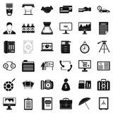 Department icons set, simple style. Department icons set. Simple style of 36 department vector icons for web isolated on white background Stock Photo