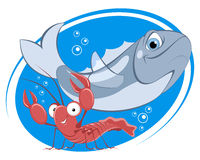 Department of seafood Royalty Free Stock Images