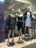 Department shopping store with fashion Mannequins. Royalty Free Stock Photo