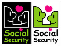Department of social welfare mascot. Education and life Characte Stock Photography
