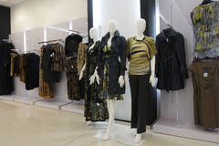 Department store. Fashion clothes shop in malls Stock Photography