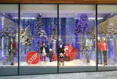 Department Store Christmas Window Display royalty free stock image