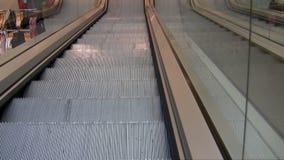 Department store escalator stock footage