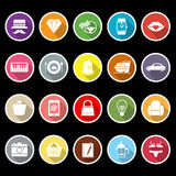 Department store item flat icons with long shadow Royalty Free Stock Images