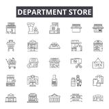 Department store line icons, signs, vector set, outline illustration concept royalty free illustration