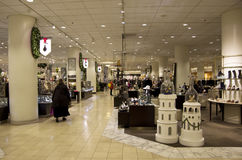 Department store mall shopping christmas decoration. Beautiful lighting and interiors inside Nordstrom Seattle Stock Image