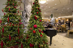 Department Store Mall Shopping Christmas Tree Ligh Stock Photos
