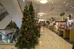 Department store mall shopping christmas tree lights lighting Royalty Free Stock Photo