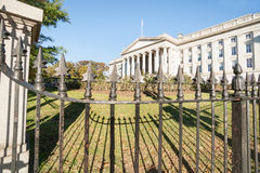 Department of Treasury Building, Washington, DC USA Royalty Free Stock Photo