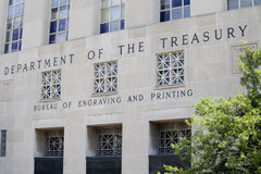 Department of the Treasury. The Bureau of Engraving and Printing of the Department of the Treasury in Washington, D.C Royalty Free Stock Photos