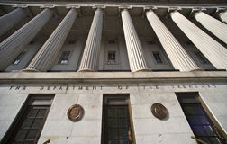 Department of the Treasury. Department of the Treasury in Washington D.C Royalty Free Stock Image