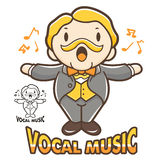 Department of Vocal Music mascot. Education and life Character D Royalty Free Stock Photography