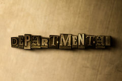 DEPARTMENTAL - close-up of grungy vintage typeset word on metal backdrop Royalty Free Stock Image