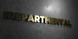 Departmental - Gold text on black background - 3D rendered royalty free stock picture Royalty Free Stock Photos