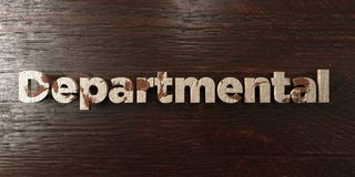 Departmental - grungy wooden headline on Maple  - 3D rendered royalty free stock image Stock Images