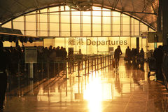 Departur d'aéroport de Hong Kong Images libres de droits