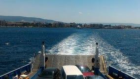 Port departure. Departure from Çanakkale harbor Eceabata stock video