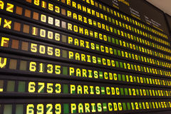 Departure Arrival Board Stock Images