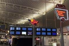 Departure and Arrival Monitors at McCarran Airport in Las Vegas, Royalty Free Stock Image
