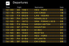Departure board Stock Images