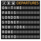 Departure Board Royalty Free Stock Photos