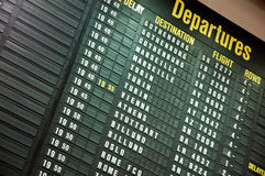 Departure board. On airport in Bruxeles Stock Photos