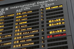Departure board Stock Photos