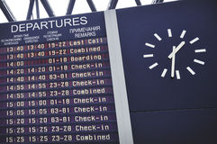 Departure board Stock Image